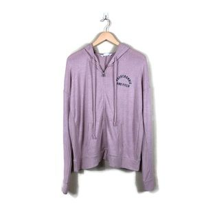 Abercrombie & Fitch Pink Purple Hooded Zip Up